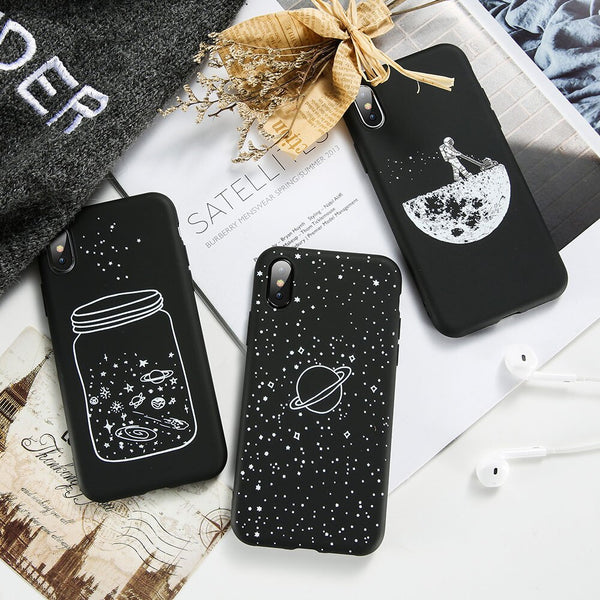 KISSCASE Space Stars Phone Case For Samsung Galaxy S8 S9 S10 S10E A51 A71 A50 A70 Pattern Soft Silicone Back Covers Coque Fundas