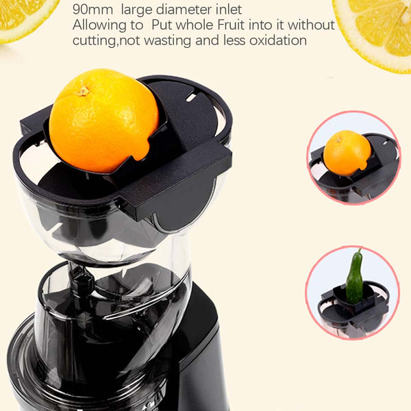 [variant_title] - 250w powerful 90mm large  diameter wide mouth Fruit nutrition slow juicer Fruit Vegetable Tools Multifunctional  Fruit Squeezer
