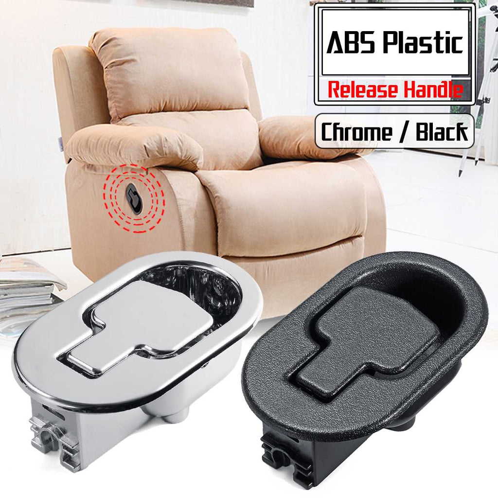 PLASTIC RECLINER SOFA CHAIR RELEASE LEVER HANDLE Silver Color X 2