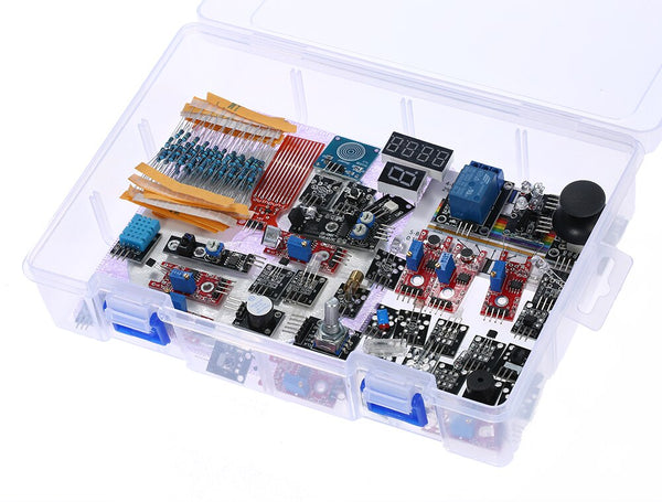 Default Title - 37 in 1 Box Sensor Module Kit for Arduino UNO Sensor Module for Arduino Starter DIY Kit Digital Temperature Sensor Module