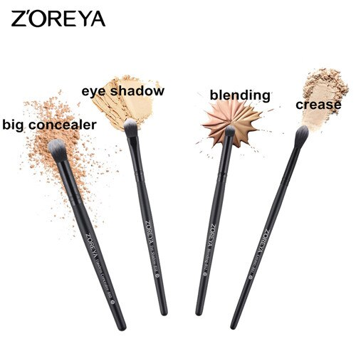 4pcs eye brush set - ZOREYA Makeup Brushes 4/8/10/11/12/15pcs Professional Makeup Brush Set Many Different Model As Essential Cosmetics Tool