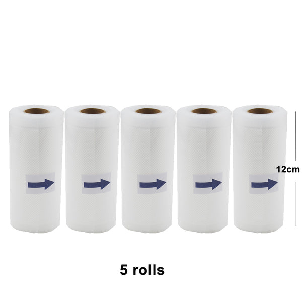 [variant_title] - 5 Rolls/Lot Kitchen Food Vacuum Bag Storage Bags For Vacuum Sealer Vacuum Packaging Rolls 12/15/20/25/28cm*500cm
