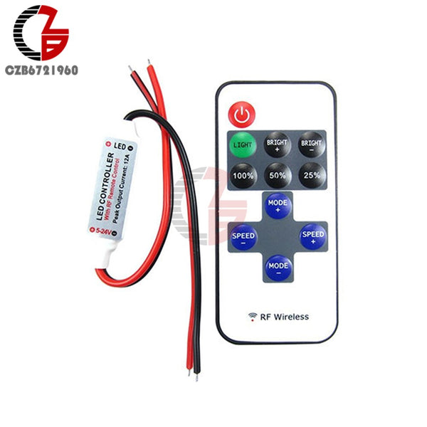 [variant_title] - 1 Set 12V Wireless RF Remote Switch Controller LED Dimmer Wireless Remote Control Switch Receiver for RGB LED Strip Light