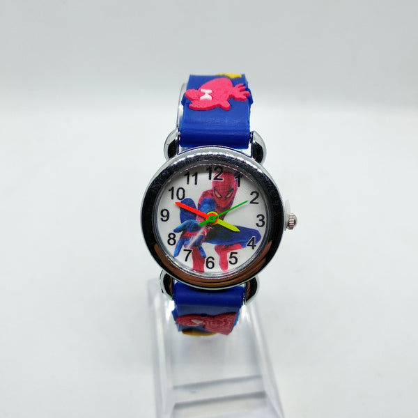 Blue - 3D Spiderman Children's Watches For Boys Girls Clock Kids Watch Superhero Spider Man Silicone Children Watch Baby Birthday Gift