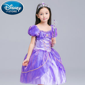 [variant_title] - Disney Frozen dress Girl Princess Elsa Anna For Girls Frozen Cotton Girl Princess infant Costume Cosplay christmas costume moana