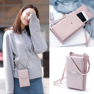 [variant_title] - JI HAO Summer Style Women Phone Shoulder Bag  PU Leather Money Wallet  Mini Chain Mobile Phone Bags Crossbody Messenger Bag