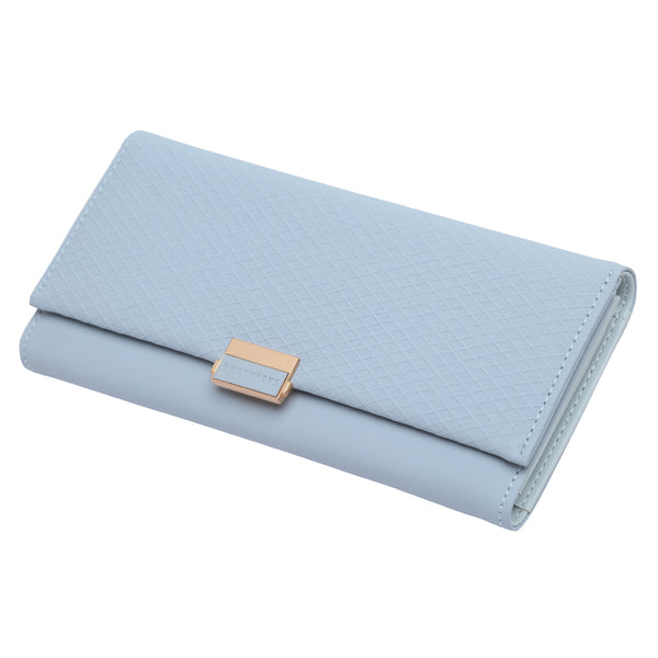 Light Blue - Woman Wallet Clutch Plaid Wallet Zipper Female Ladies Hot Change Women Luxury Credit Phone Card Holder Coin Purses For Girls