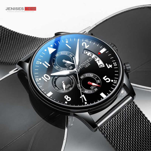 [variant_title] - JENISES Men Watch Top Brand Luxury Quartz Watch Men Fashion Military Waterproof Chronograph Sport Watches Saat Relogio Masculino