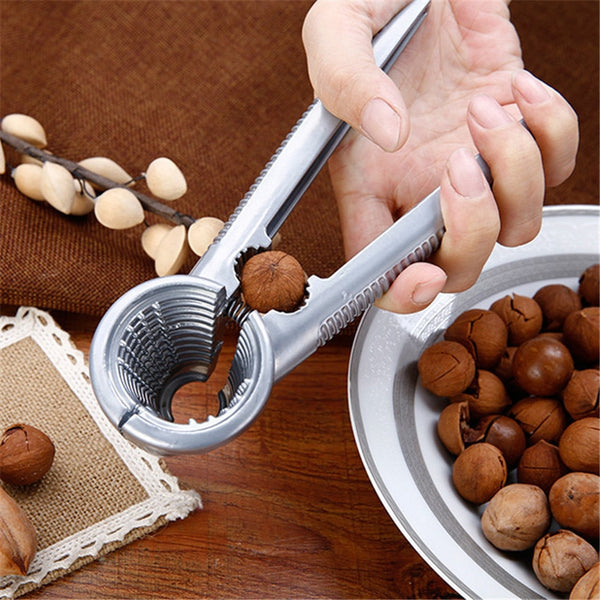 [variant_title] - Zinc Alloy Nutcracker Sheller Crack almond Walnut Pecan Hazelnut Filbert Nut Kitchen Nut Sheller Clip Tool Clamp Plier Cracker