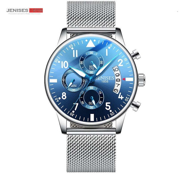 Multicolor - JENISES Men Watch Top Brand Luxury Quartz Watch Men Fashion Military Waterproof Chronograph Sport Watches Saat Relogio Masculino