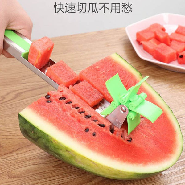 [variant_title] - Watermelon Windmill Cutter Stainless Steel Cutting Watermelon Artifact Fruit Cutting Artifact Creative Style Cutting Fruit Slice