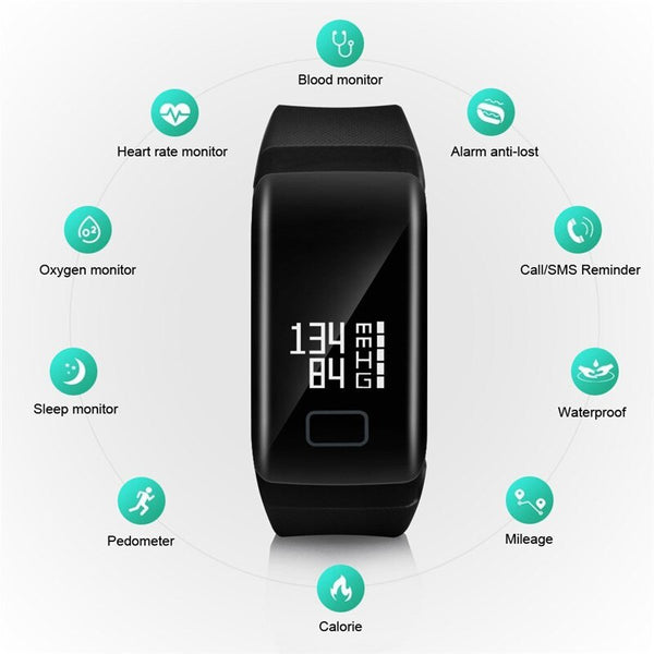 [variant_title] - Smart Watch F1 Blood Oxygen Blood Pressure Band Fitness Sport Bracelet Heart Rate Monitor SMS Reminder Smart Watch Men Women