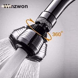 Default Title - Kitchen Faucet Shower Head 360 Degree Rotatable Water Saving Tap Aerator Bubbler Connector Diffuser Faucet Nozzle Filter Adapter