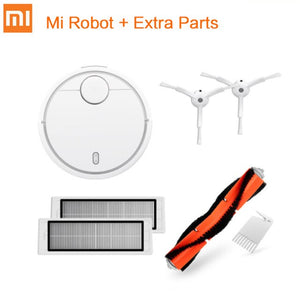 Add Extra Parts / AU - Original Xiaomi Mi Robot Vacuum Cleaner for Home Automatic Sweeping Charge Dust Cleaner Smart Planned Mijia App Remote Control