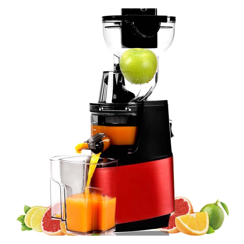 Red / AU - 250w powerful 90mm large  diameter wide mouth Fruit nutrition slow juicer Fruit Vegetable Tools Multifunctional  Fruit Squeezer