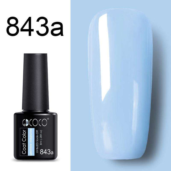 843a - #86102 GDCOCO 2019 New Arrival Primer Gel Varnish Soak Off UV LED Gel Nail Polish Base Coat No Wipe Top Color Gel Polish