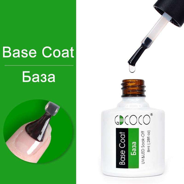 Base Coat - #86102 GDCOCO 2019 New Arrival Primer Gel Varnish Soak Off UV LED Gel Nail Polish Base Coat No Wipe Top Color Gel Polish