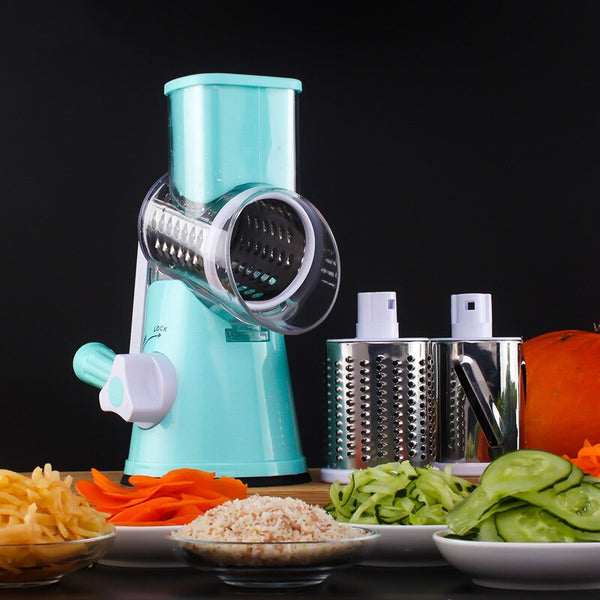 [variant_title] - Vegetable Cutter Round Slicer Graters Potato Carrot Cheese Shredder Food Processor Vegetable Chopper kitchen Roller Gadgets Tool