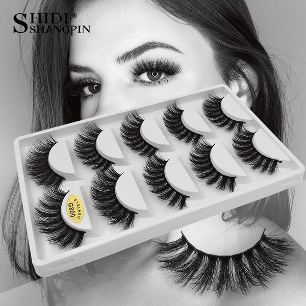 [variant_title] - 5 Pairs eyelashes thick 3d mink lashes handmade eye lashes false eyelashes natural long mink eyelashes for makeup cilios 3d mink