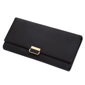 Black - Woman Wallet Clutch Plaid Wallet Zipper Female Ladies Hot Change Women Luxury Credit Phone Card Holder Coin Purses For Girls