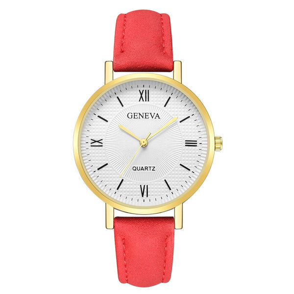 N - New Fashion Montre Femme Kadin Saat Watch Women Geneva Hours Clock Leather Quartz Ladies Watch Relogio Feminino Dropshipping &A
