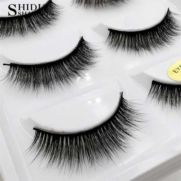 g803 - SHIDISHANGPIN 5 pairs mink eyelashes natural long 3d mink lashes hand made false eyelashes dramatic eyelashes makeup fake lashes