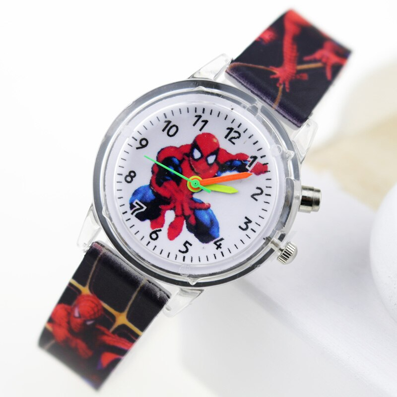 Boy Black Flash - Princess Elsa Children Watches Spiderman Colorful Light Source Boys Watch Girls Kids Party Gift Clock Wrist Relogio Feminino
