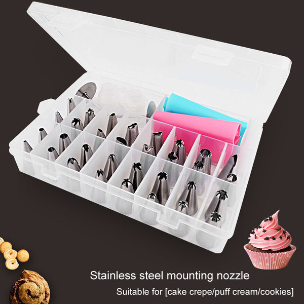 [variant_title] - Cream 38 Pcs Baking Pastry Tool Pastry Tools Bakeware Confectionery Bags Nozzles Confectionery Cake Shop Home Kitchen Dining