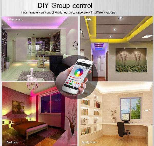 [variant_title] - HOTOOK Mi Light WIFI LED Bulb RGB CCT(2700-6500K)LED Lamp Smart Light Dimmable MR16 GU10 4WSpotlight 2.4G Remote and APP Control