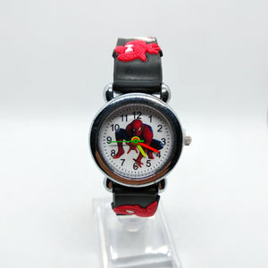 Black - 3D Spiderman Children's Watches For Boys Girls Clock Kids Watch Superhero Spider Man Silicone Children Watch Baby Birthday Gift