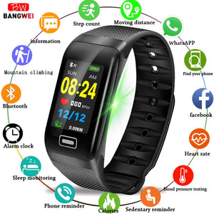 [variant_title] - BANGWEI Fitness smart watch men Women Pedometer Heart Rate Monitor Waterproof IP67 Swimming Running Sports Watch For Android IOS