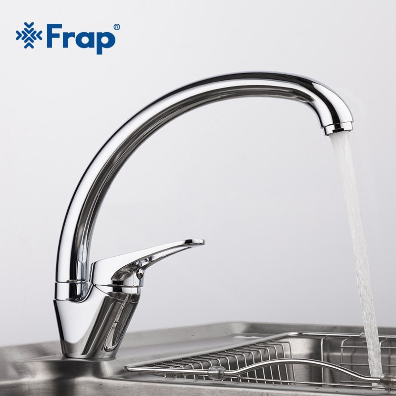 F41132CHROME - FRAP  Brass 5 color Kitchen sink faucet Mixer Cold And Hot Single Handle Swivel Spout Kitchen Water Sink Mixer Tap Faucets F4113