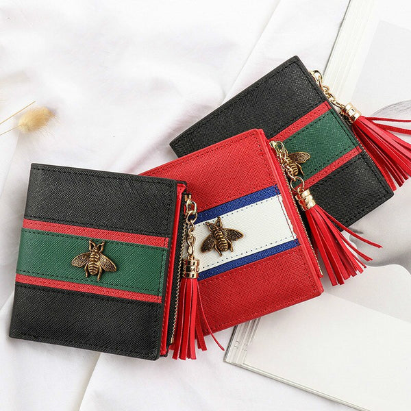 [variant_title] - Hot Sale Genuine Leather Women Wallets Women Purses Hasp Wallet Female Small Coin Purse Leather Zipper Carteira Feminina