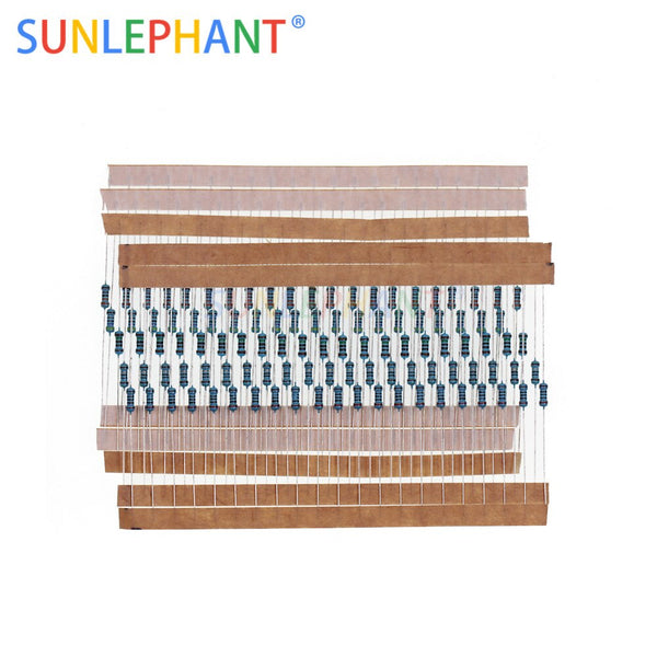 [variant_title] - 1 Pack 300Pcs 10 -1M Ohm 1/4w Resistance 1% Metal Film Resistor Resistance Assortment Kit Set 30Kinds*10pcs=300PCS