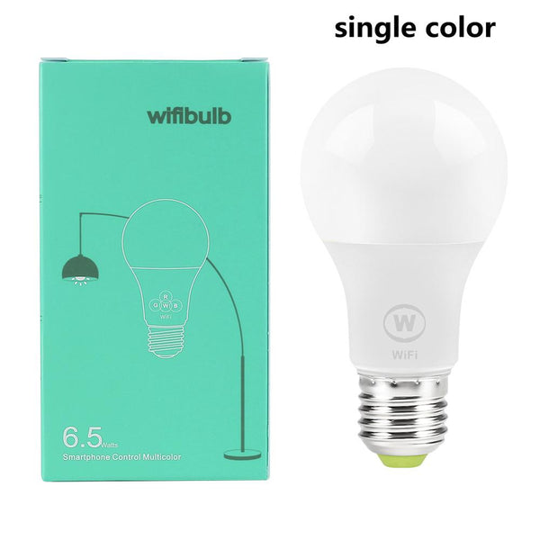 Single Color / 6.5W - New E27 WiFi Smart LED Light Bulbs Intellegent App Remote Control Bulbs Walk-up Warn Lighting Work With Alexa Google Assistant
