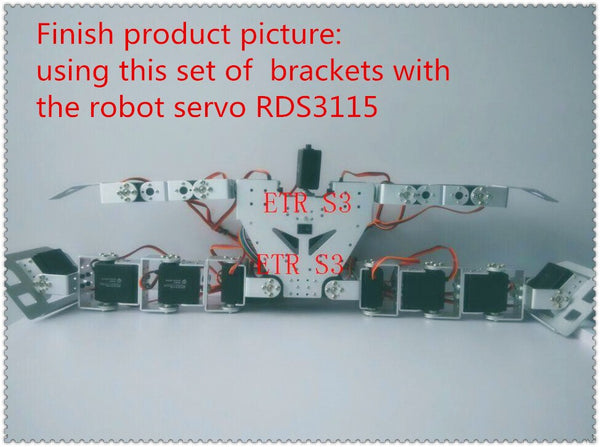 [variant_title] - 17 DOF humanoid DIY robot servo  chassis Educational humanoid robot parts RC arduino robot + assemble tools free shipping