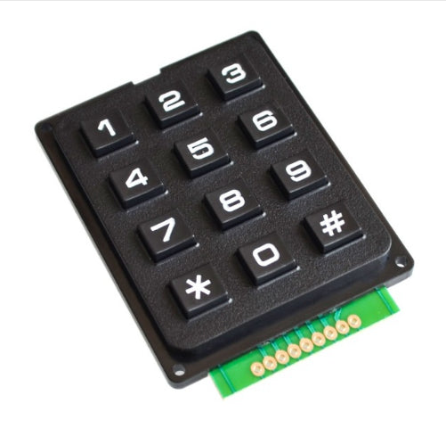 12 - 4x4 3x4 Matrix Keyboard Keypad Module Use Key PIC AVR Stamp Sml 4*4 3*4 Plastic Keys Switch for Arduino Controller