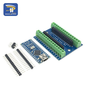 DIY NANO - NANO V3.0 3.0 Controller Terminal Adapter Expansion Board NANO IO Shield Simple Extension Plate For Arduino AVR ATMEGA328P