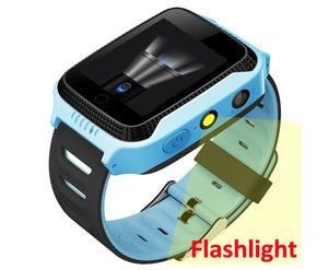 BLUE watch - GPS tracker kids watch Camera Flashlight touch Screen SOS Call Location Baby clock Children Smart watches Q528 Y21 2G SIM card