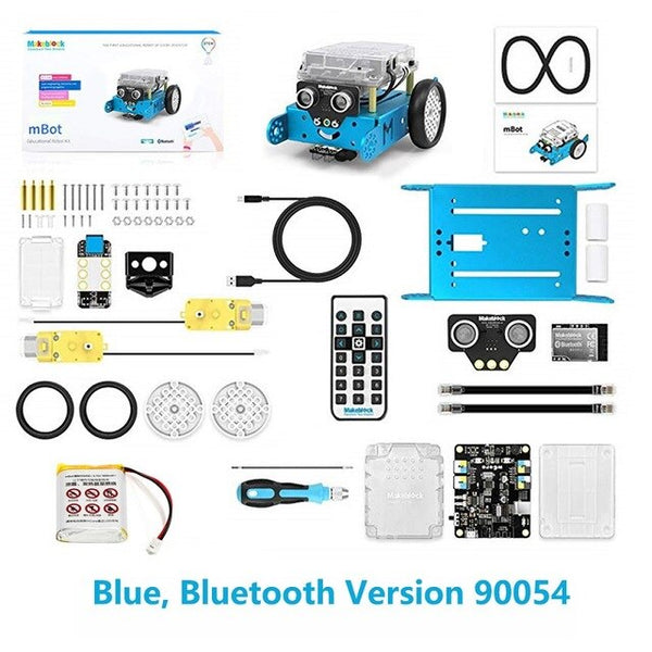 Blue Bluetooth mBot - 2019 Newest Makeblock mBot V1.1 Programmable Kids Toys Educational birthday Gift Scratch 2.0 Arduino DIY Smart Robot Car Kit