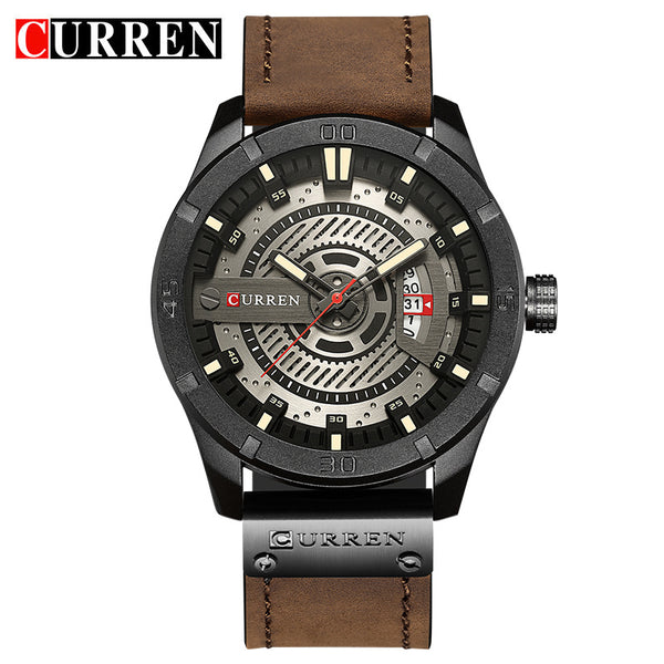 black white - 2018 Luxury Brand CURREN Men Military Sports Watches Men's Quartz Date Clock Man Casual Leather Wrist Watch Relogio Masculino
