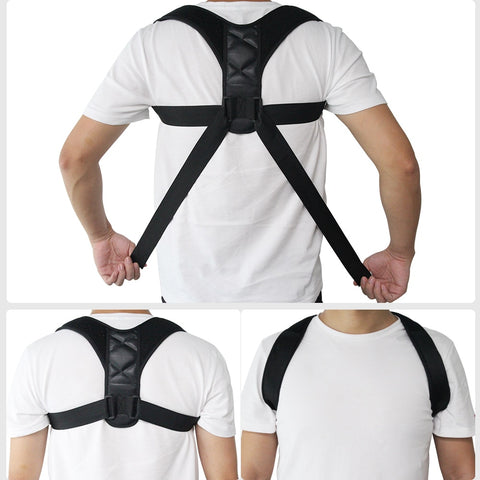[variant_title] - Adjustable Back Posture Corrector Clavicle Spine Back Shoulder Lumbar Brace Support Belt Posture Correction Prevents Slouching