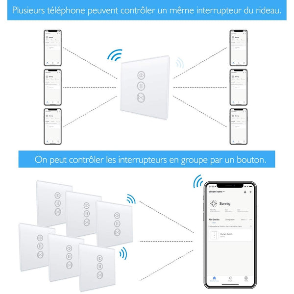 [variant_title] - EU WiFI Smart Curtain Switch Makes Electrical Motorized Blind Roller Shutter Become Smart,  Voice Control Google Home Alexa echo