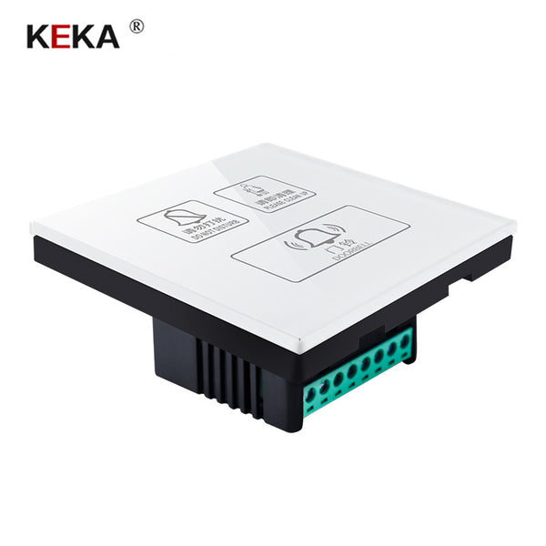 White / 220V - KEKA Hotel Switch smart wall touch switch 3 Gang Do not disturb,Clean up,doorbell switch  Crystal Glass Panel AC220-250V