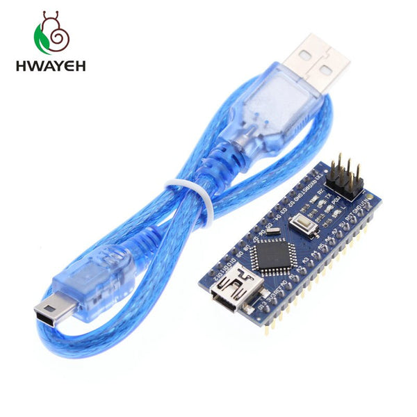Board With Cable - 1PCS MINI USB Nano V3.0 ATmega328P CH340G 5V 16M Micro-controller board for arduino NANO 328P NANO 3.0
