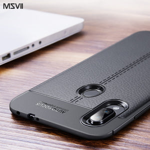 [variant_title] - Msvii Case for Redmi Note 7 Case Silicone for Xiaomi Redmi Note 7 Pro Case Leather Global Version Cover 360 Funda Coque Capa