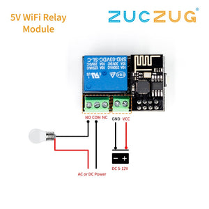 Default Title - ESP8266 ESP-01S 5V WiFi Relay Module Things Smart Home Remote Control Switch for Arduino Phone APP ESP01S Wireless WIFI Module
