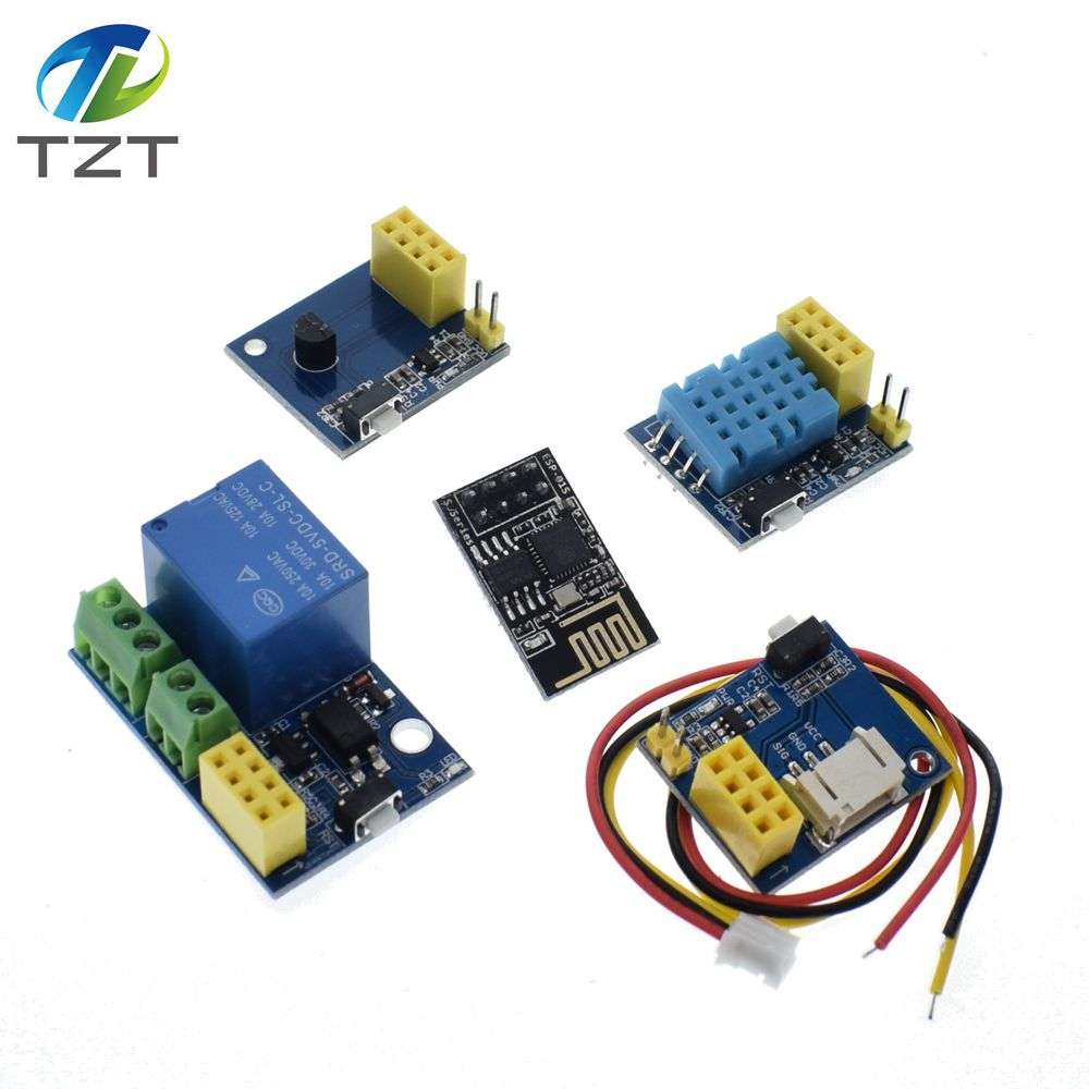 ESP8266 ESP-01 ESP-01S 5V WiFi relay module / WS2812 RGB LED Controller/  DHT11 / DS18B20 Temperature Humidity Sensor for arduino
