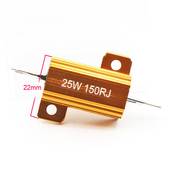 [variant_title] - 2pcs RX24 25W Aluminium Housed High Power Resistor Metal Shell Heatsink Resistance 0.1 0.5 1 10 20 30 50 Ohm Multiple Values
