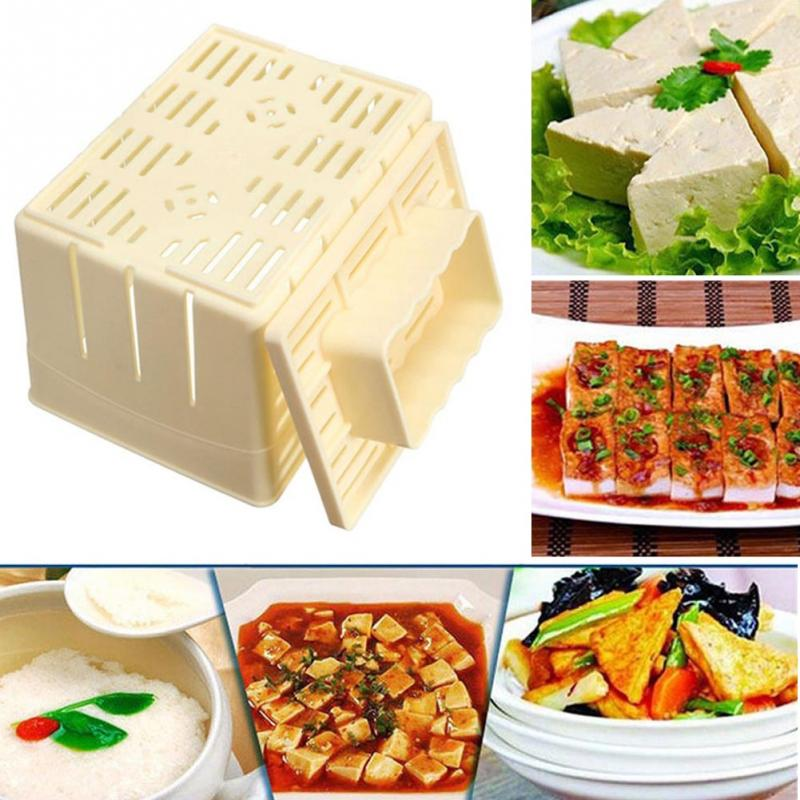 Default Title - 500g Capacity DIY Plastic Tofu Press Mould Homemade Soybean Curd Making Mold with Cheese Cloth Kitchen Cooking Tool Set
